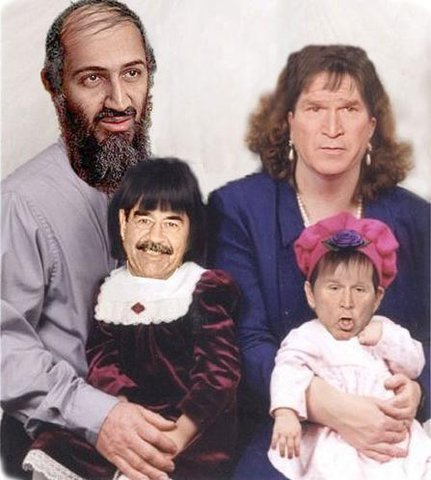 Strange looking family portrait